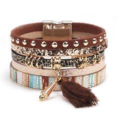 Unique Romantic Alloy PU Leather Women's Ladies' Unisex Girl's Bracelets Charm Bracelets Bolo Bracelets