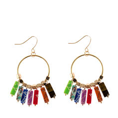 Oval Alloy With Imitation Stones Women's Earrings