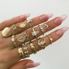 Einzigartig Exquisiten Stilvoll Legierung Schmuck Sets Ringe (Satz 15 Paare)