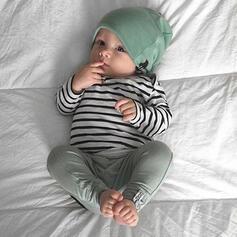 3 Stücke Baby gestreift Baumwolle Stellen Sie Größe
