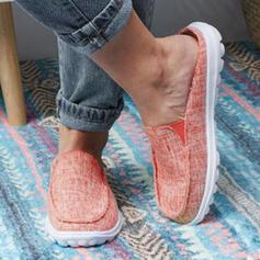 Frauen PU Flascher Absatz Flache Schuhe mit Gummiband Schuhe