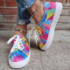 Frauen PU Lässige Kleidung Outdoor Sportlich mit Spleißfarbe Schuhe
