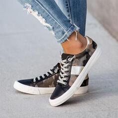 Frauen Leinwand Lässige Kleidung Outdoor Sportlich mit Zuschnüren Schuhe