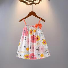 Mädchen Blumen Druck Kleid