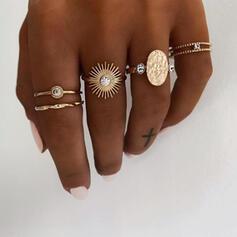 Einzigartig Exquisiten Stilvoll Legierung Schmuck Sets Ringe (Satz von 5 Paaren)