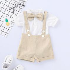 2 Stücke Baby Bowknot Einfarbig Baumwolle Stellen Sie Größe