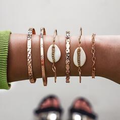 Boho Legierung mit Schale Armbänder (Satz 6)