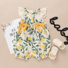 Baby Mädchen Blumen Druck Baumwolle Kleid
