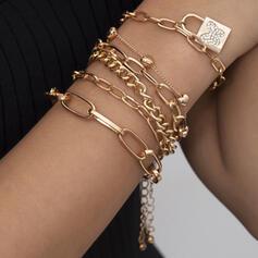 Modisch Sexy Jahrgang Klassische Art Legierung mit Vergoldet Schmetterling Frauen Damen Armbänder 6 PCS