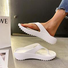 Women's EVA Flat Heel Sandals Flats Flip-Flops Slippers With Solid Color shoes