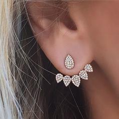 Schöne Legierung Strasssteine mit Strass Damen Art-Ohrringe