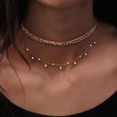 Charming Pretty Artistic Romantic Alloy With Rhinestones Ladies' Necklaces