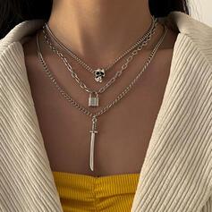 mit Vergoldet Frauen Damen Halsketten 3 PCS