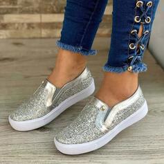 Frauen Leder Lässige Kleidung Outdoor Sportlich mit Pailletten Schuhe