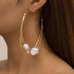 mit Faux Pearl Frauen Damen Ohrringe 2 STÜCK