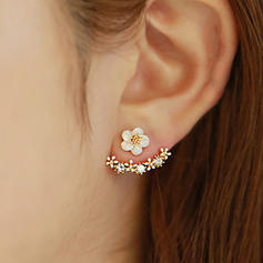 Beautiful Alloy With Rhinestone Ladies' Earrings