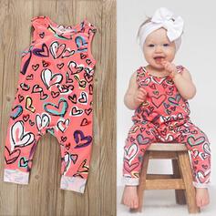 Baby Herz Druck Baumwolle Overall