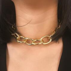 Modisch Jahrgang Legierung mit Vergoldet Frauen Damen Halsketten 1 PC