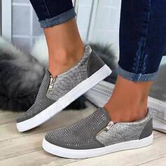 Frauen PU Lässige Kleidung Outdoor mit Reißverschluss Hohl-out Schuhe