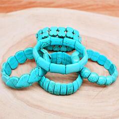 Vintage Boho Geometric Luxurious Adjustable Natural Stone With Minimalist Women's Ladies' Girl's Bracelets 1 PC