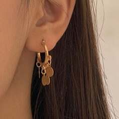 Attractive Charming Pretty Elegant Alloy With Minimalist Circle Decor Earrings