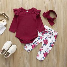 3 Stücke Baby Mädchen Bowknot Blumen Einfarbig Baumwolle Stellen Sie Größe