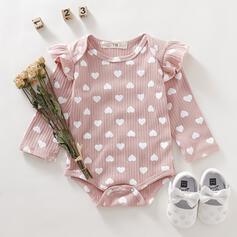 Baby Mädchen Verstellbar Herz Rüschen Druck Baumwolle Badeanzüge