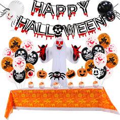 Modern Special Horrifying Cartoon Unique Halloween Ghost Pumpkin Blood Polyester Halloween Props Tapestry