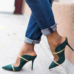 Frauen PU Stöckel Absatz Absatzschuhe Pantoffel mit Schnalle Schuhe