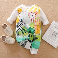 Baby Cartoon Animal Print Cotton One-piece