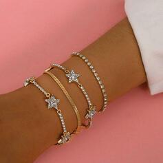 mit Strass Star Frauen Damen Armbänder 4 STÜCK