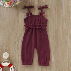 Baby Rüschen Einfarbig Baumwolle Hosen