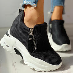 Frauen Stoff Mesh Lässige Kleidung Outdoor mit Reißverschluss Schuhe