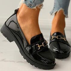 Frauen PU Andere Flache Schuhe Round Toe Schlüpfen mit Schnalle Einfarbig Schuhe