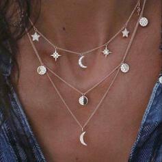 Einfache Legierung Strasssteine Halsketten