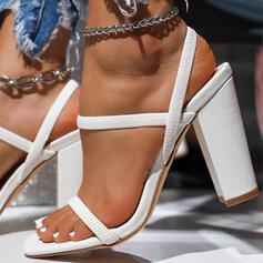 Women's Nylon Chunky Heel Sandals Heels With Elastic Band shoes