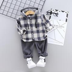 2 Stücke Baby Mädchen mit Kapuze Kariert Baumwolle Stellen Sie Größe