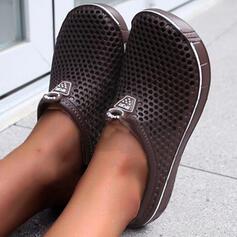 Frauen EVA Flascher Absatz Sandalen Flache Schuhe Peep Toe Pantoffel mit Hohl-out Schuhe