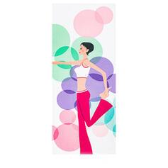 Übergroßen Blumen Mikrofaser Yoga Handtuch