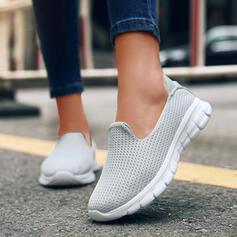 Frauen PU Flascher Absatz Flache Schuhe Round Toe Schlüpfen mit Einfarbig Schuhe