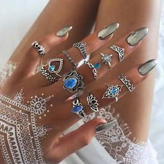 Stilvoll Boho Legierung Frauen Damen Ringe (Set von 12)