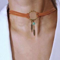 Exotisch Boho Legierung Leder Frauen Halsketten