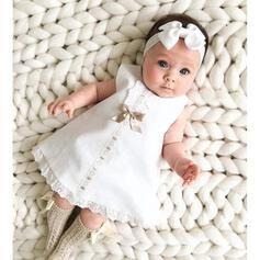 2 Stücke Baby Mädchen Bowknot Einfarbig Spitze Stellen Sie Größe