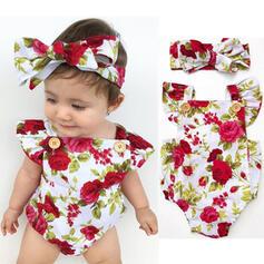 2 Stücke Baby Mädchen Bowknot Blumen Druck Baumwolle Stellen Sie Größe