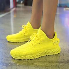 Frauen Stoff Mesh Outdoor Sportlich mit Zuschnüren Schuhe