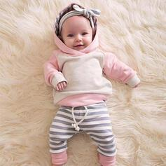3-pieces Baby Girl Striped Cotton Set