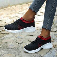 Frauen Mesh Flascher Absatz Flache Schuhe mit Spleißfarbe Schuhe