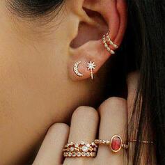 Sterne Legierung Strasssteine Schmuck Sets Ohrringe Ringe (Set aus 8)