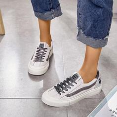 Frauen PU Lässige Kleidung Outdoor Sportlich mit Zuschnüren Schuhe