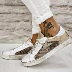 Frauen PU Flascher Absatz Flache Schuhe Round Toe Espadrille mit Zuschnüren Schuhe